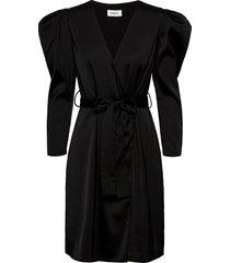 fabia dress knälång klänning svart modström
