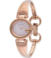 gucci pre-owned pre-owned shima quartz 16mm - gold