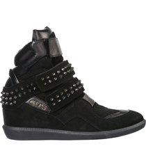 scarpe sneakers alte donna in camoscio