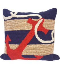 """liora manne frontporch anchor indoor, outdoor pillow - 18"""" square"""