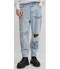 graffiti loose fit jeans
