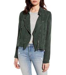 women's blanknyc utility moto jacket, size x-small - green