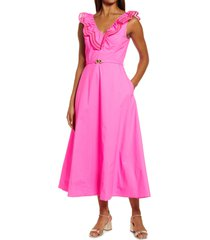 lilly pulitzer(r) carine midi dress, size 16 in raz berry at nordstrom