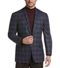 joseph abboud limited edition blue plaid modern fit sport coat
