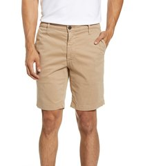 men's ag wanderer modern slim fit shorts, size 38 - beige