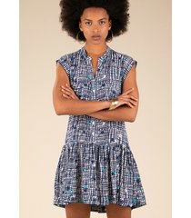 poupette st barth mini amora dress blue maze