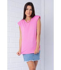 blusa  pkd muscle tee rosa chiclete - kanui