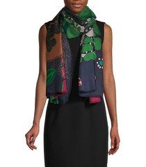 floral cashmere scarf