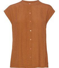 erisa shirt blouses short-sleeved oranje minus