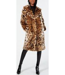 kendall + kylie faux-fur leopard-print coat