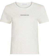 camiseta manga corta naps slim t-shirt blanco calvin klein
