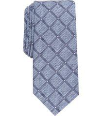 alfani men's storey slim grid tie, created for macy's