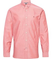 flex refined oxford shirt overhemd casual roze tommy hilfiger