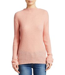 donna mohair blend turtleneck sweater