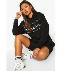 barcelona oversized hoodie, black