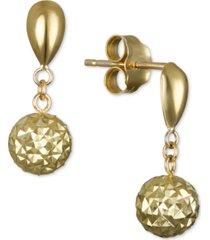 textured drop earrings in 10k gold