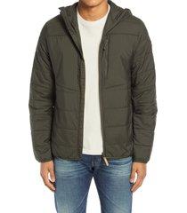 men's fjallraven men's keb padded hoodie, size large - green