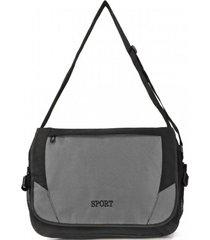 bolso maletín sport gris kubayoff