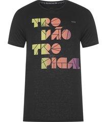 t-shirt masculina trovão tropical - preto