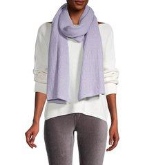 portolano women's ribbed wrap scarf - lilac