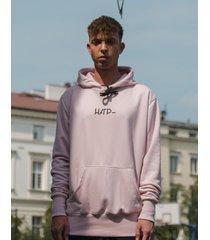 bluza classic hoodie powder pink