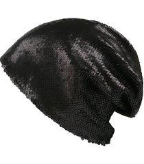 beanie di paillettes in cotone etnico per donna cappello vogue in turbante estivo per berretto estivo