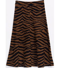 loft lou & grey tiger midi skirt