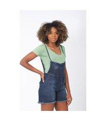 macaquinho jeans upscale feminino