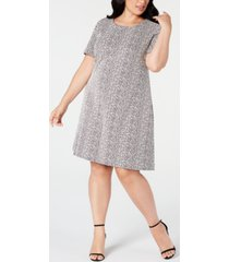 calvin klein plus size textured sheath dress
