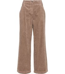 ribcord broek, taupe 44