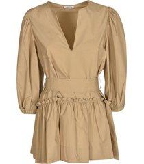 parosh canyox belted fitted waist dress