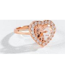 adeline cz heart ring - rose/gold