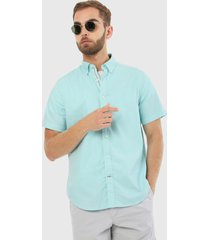camisa azul náutica