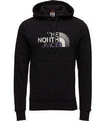 m drew peak plv hd hoodie trui zwart the north face
