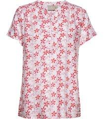 shirt s/s woven t-shirts & tops short-sleeved röd brandtex