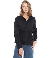 blusa only negro - calce ajustado