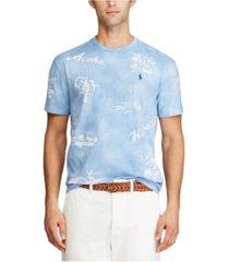 polo ralph lauren men's classic fit hawaiian t-shirt