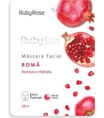 máscara facial ruby rosé renova e hidrata romã