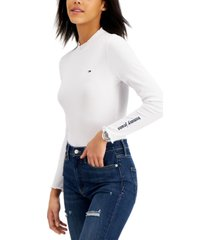 tommy jeans ribbed thong bodysuit