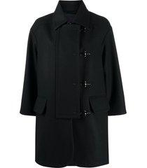 fay naw duffle coat - black