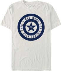marvel men's captain america i was made for this shield inspiration short sleeve t-shirt