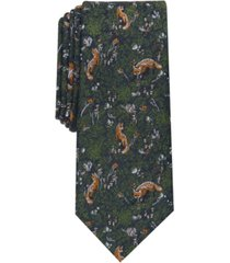 bar iii men's forest fox skinny tie, created for macy's