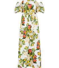 juliette puff-sleeve maxi dress