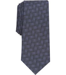 alfani men's abstract crosshatch slim tie, created for macy's