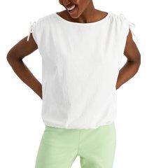 alfani tie-shoulder cap-sleeve top, created for macy's
