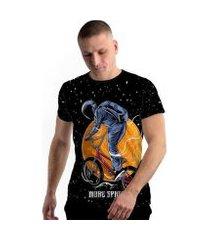 camiseta stompy new collection astronaut biker masculina