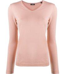aspesi v-neck pull over jumper - pink