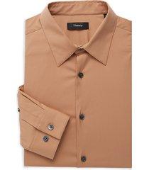 theory men's sylvain regular-fit dress shirt - terra - size xl