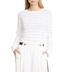women's rag & bone ayesha stripe sweater, size medium - white