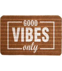 capacho carpet good vibes only marrom único love decor